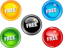 Free buttons Royalty Free Stock Images