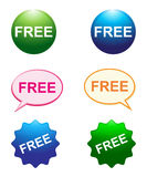 Free buttons Royalty Free Stock Photography