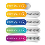 Free call button set Royalty Free Stock Image