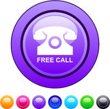 Free call circle button. Free call glossy circle web buttons royalty free illustration
