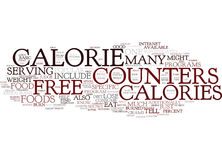 Free Calorie Counters Available Online Text Background  Word Cloud Concept Royalty Free Stock Photo