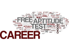 Free Career Aptitude Test Text Background Word Cloud Concept Stock Images