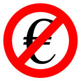 Free of charge anti euro sign Royalty Free Stock Photos