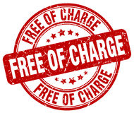 Free of charge red grunge round vintage stamp Royalty Free Stock Image