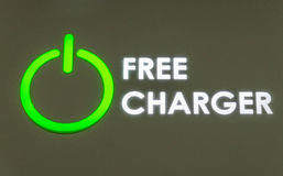 Free charger station in the airport Stock Images