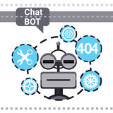 Free Chat Bot Fixing Error, Robot Virtual Assistance Element Of Website Or Mobile Applications, Artificial Intelligence Stock Image