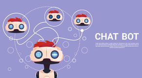 Free Chat Bot, Robot Virtual Assistance Element Of Website Or Mobile Applications, Artificial Intelligence Concept Royalty Free Stock Photo