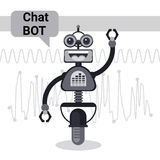 Free Chat Bot, Robot Virtual Assistance Element Of Website Or Mobile Applications, Artificial Intelligence Concept Royalty Free Stock Image