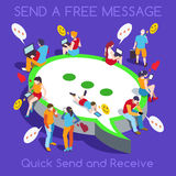 Free Chat Set People Isometric Royalty Free Stock Photography