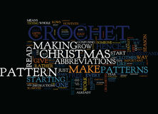 Free Christmas Crochet Patterns Text Background  Word Cloud Concept Stock Image