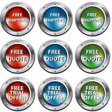 Free Chrome Rivet Buttons Stock Image