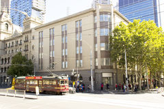 Free circle tram for travel city of melbourne Stock Photo