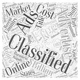 Free classifieds Using them to promote your stuff online word cloud concept word cloud concept  background Stock Photo