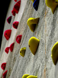Free climb wall. A wall for the children's learning of free climb Royalty Free Stock Photos