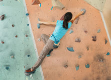 Free climber woman training indoor Royalty Free Stock Image