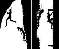 Free climbers Stock Photo