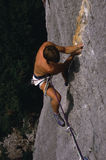 Free-climbing in Italy. Free-climber in action in Arco - Italy Royalty Free Stock Photos
