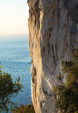 Free climbing on the rocks Royalty Free Stock Photography
