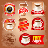 Free coffee labels Stock Photography