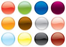 Free colored buttons set. Stock Photography