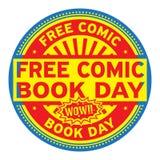 Free Comic Book Day stamp. Free Comic Book Day, rubber stamp, vector Illustration royalty free illustration