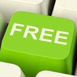 Free Computer Key In Green Showing Freebie and Promo Royalty Free Stock Photos