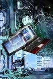 Free computer wi-fi.Generation technology.Internet. Generation technology Royalty Free Stock Image