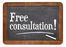 Free consultation blackboard sign Stock Photo
