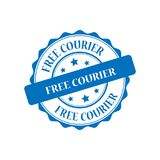 Free courier stamp illustration Stock Images