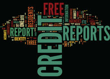 Free Credit Reports From The Government Word Cloud Concept. Free Credit Reports From The Government Text Background Word Cloud Concept Royalty Free Stock Image