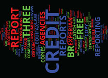 Free Credit Reports For You Word Cloud Concept Stock Photography