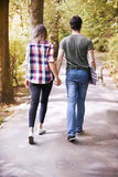 Free day with love. Take my hand and walk with me stock photography