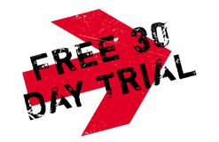 Free 30 Day Trial rubber stamp Royalty Free Stock Photography
