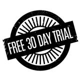 Free 30 Day Trial rubber stamp Stock Photos