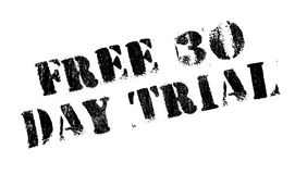 Free 30 Day Trial rubber stamp. Grunge design with dust scratches. Effects can be easily removed for a clean, crisp look. Color is easily changed Royalty Free Stock Photography
