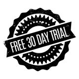 Free 30 Day Trial rubber stamp Royalty Free Stock Image
