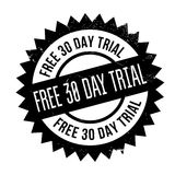 Free 30 Day Trial rubber stamp. Grunge design with dust scratches. Effects can be easily removed for a clean, crisp look. Color is easily changed Royalty Free Stock Image