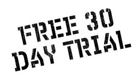 Free 30 Day Trial rubber stamp. Grunge design with dust scratches. Effects can be easily removed for a clean, crisp look. Color is easily changed Stock Image