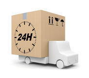 Free delivery. Transportation concept. Separated on white Stock Images