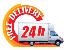 Free delivery - 24h Royalty Free Stock Photos