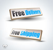 Free Delivery 3D Panels Royalty Free Stock Photography