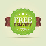 Free delivery badge. Royalty Free Stock Image