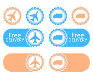 Free delivery badges Royalty Free Stock Image