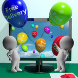 Free Delivery Balloons From Computer Stock Image