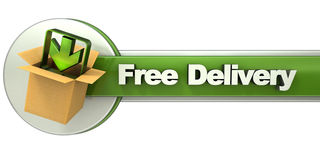 Free delivery banner Stock Photos