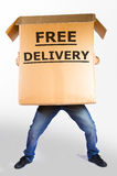 Free Delivery Big Box Royalty Free Stock Photography