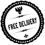 FREE DELIVERY black stamp. Royalty Free Stock Photos