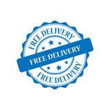 Free delivery stamp illustration Royalty Free Stock Photos