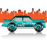 Free delivery car Royalty Free Stock Image