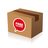 Free delivery cardboard Stock Image